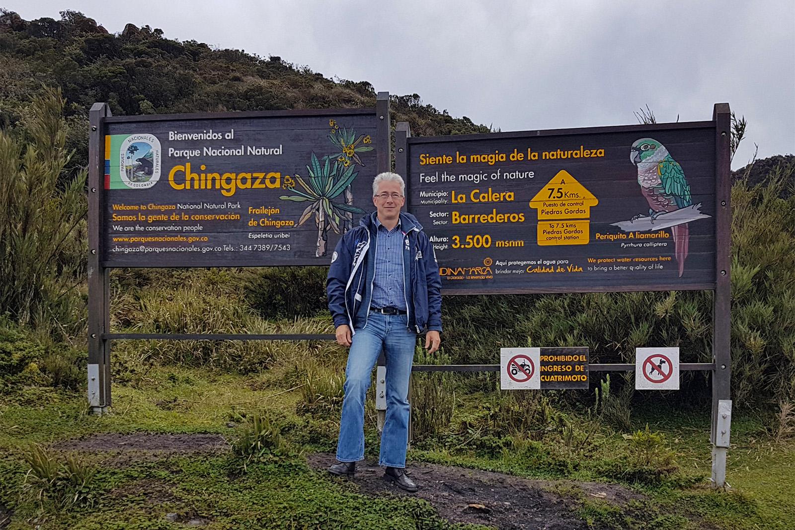 Dipl.-Ing. Axel Dederichs im Naturpark Chingaza